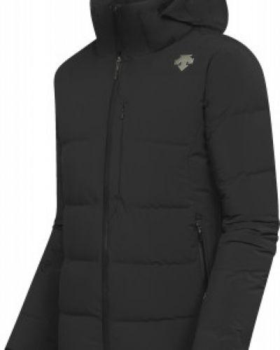 Облегченная приталенная черная куртка Descente