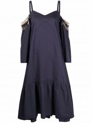 Niebieska sukienka bawełniana Dorothee Schumacher