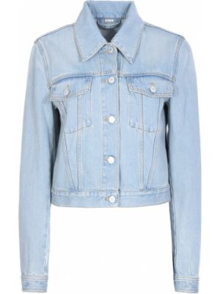 Джинсовая куртка с манжетами с поясом с воротником на пуговицах Gucci