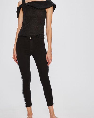 Черные джинсы-скинни с поясом на пуговицах Miss Poem
