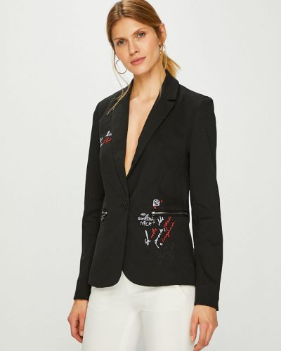 Классический пиджак прямой черный Desigual
