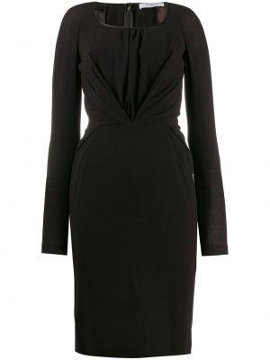 Приталенное драповое платье миди с рукавом реглан Givenchy Pre-owned