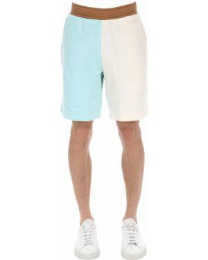 Niebieskie krótkie szorty z haftem bawełniane Lacoste X Tyler The Creator