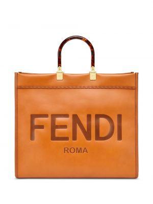 Сумка шоппер с ручками круглая Fendi