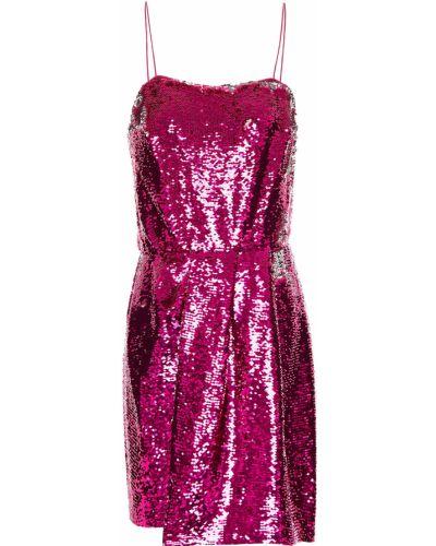 Розовое платье мини с пайетками с подкладкой Derek Lam 10 Crosby