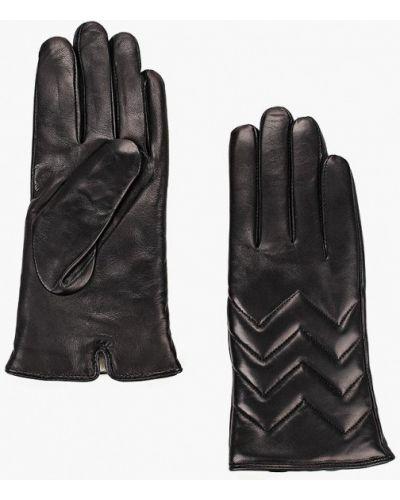 Черные кожаные перчатки Vitacci