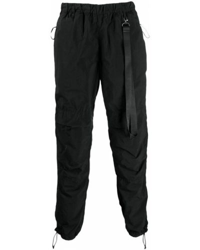 Черные брюки карго с карманами для беременных Nemen