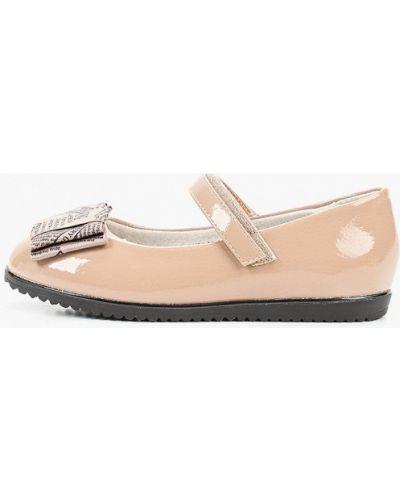 Лаковые кожаные бежевые туфли Betsy
