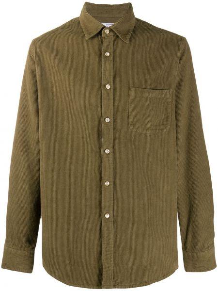 Классическая оливковая фланелевая классическая рубашка с воротником Portuguese Flannel