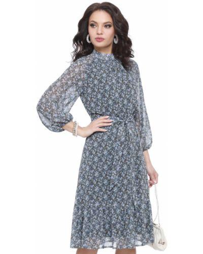 Приталенное повседневное шифоновое платье Dstrend