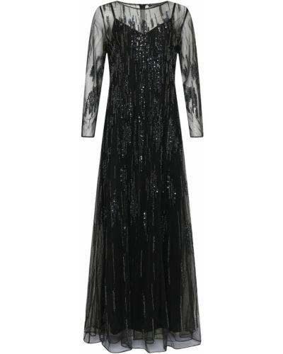 Вечернее платье с пайетками макси Marina Rinaldi
