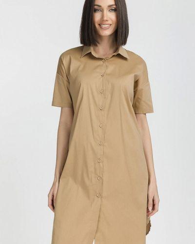 Платье - бежевое Gloss