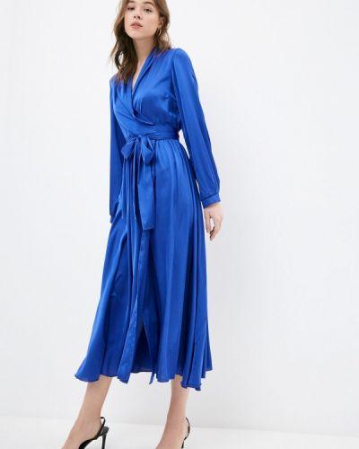 Синее платье-футляр Lipinskaya Brand