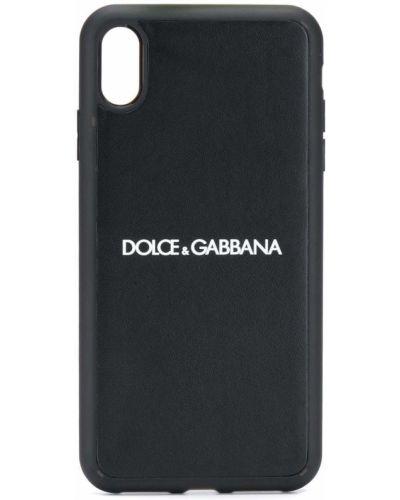 Skórzany czarny etui na klucze Dolce And Gabbana