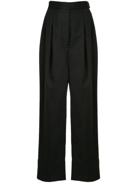 Черные брюки с бантом с воротником со складками Marta Jakubowski