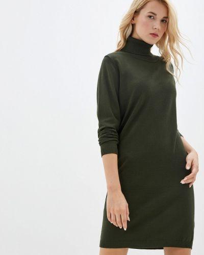 Платье осеннее зеленый Tantra