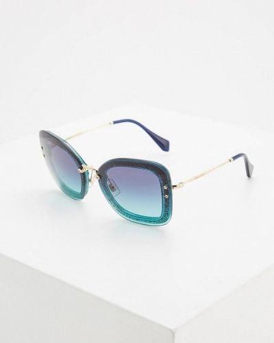 Зеленые солнцезащитные очки Miu Miu