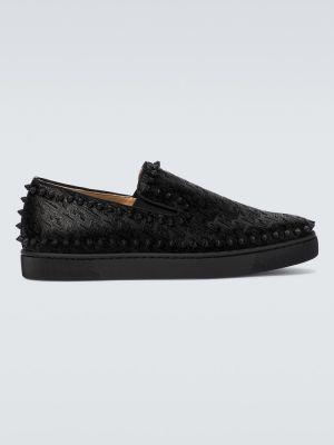 Черные классические туфли с рисунком с подкладкой Christian Louboutin