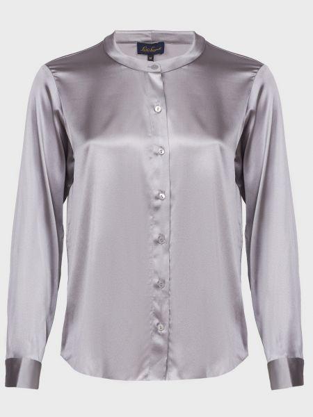 Шелковая блузка - серая Luisa Spagnoli