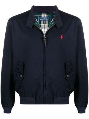 Синяя куртка с нашивками на молнии Polo Ralph Lauren