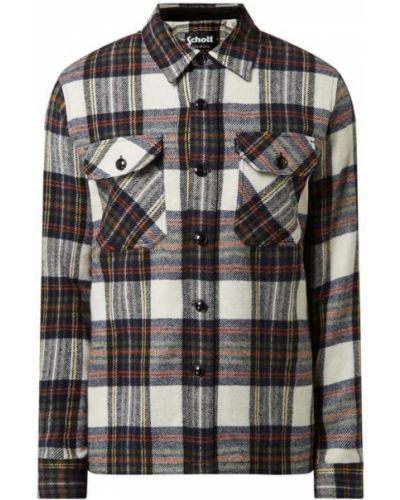 Koszula w kratę - beżowa Schott Nyc