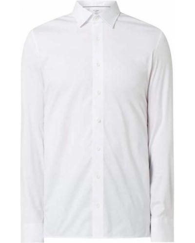 Biała koszula bawełniana z długimi rękawami Olymp