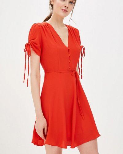 Красное платье осеннее Glamorous