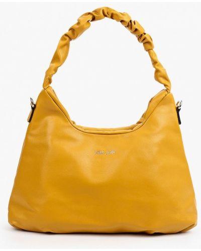 Кожаная сумка - желтая Keddo