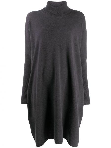 Кашемировое серое вязаное платье оверсайз Sminfinity