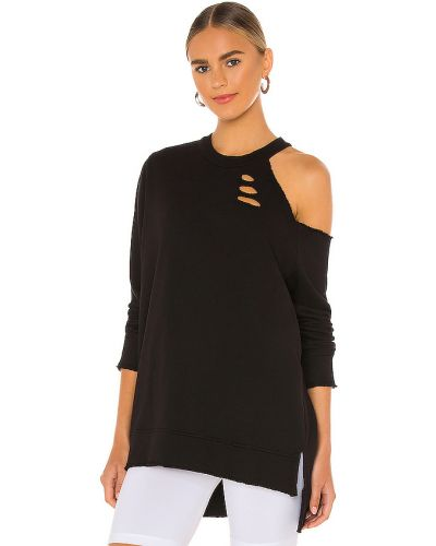 Bawełna bawełna czarny bluza La Made