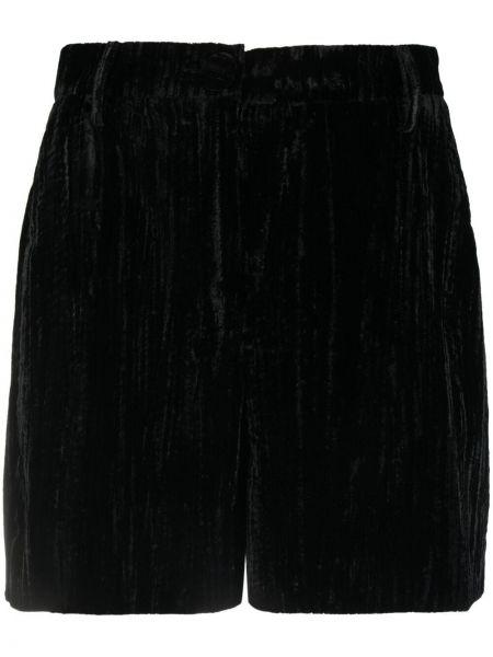 С завышенной талией черные шорты с карманами Alexa Chung