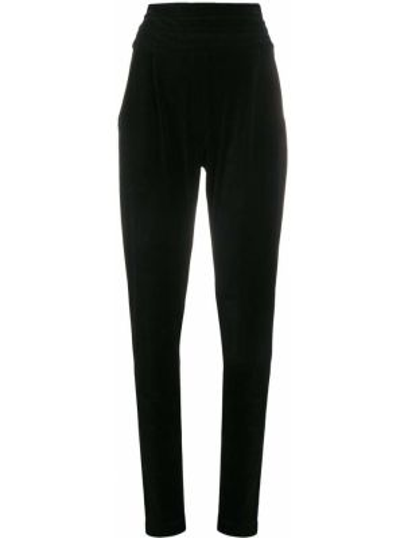 Spodnie z wysokim stanem czarne z kieszeniami Balmain