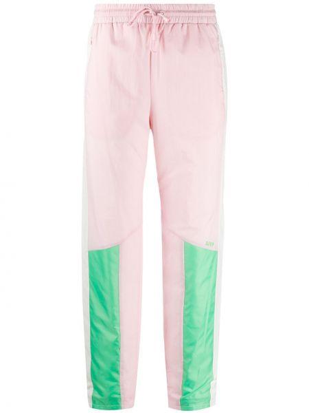 С кулиской розовые спортивные брюки с карманами Sjyp