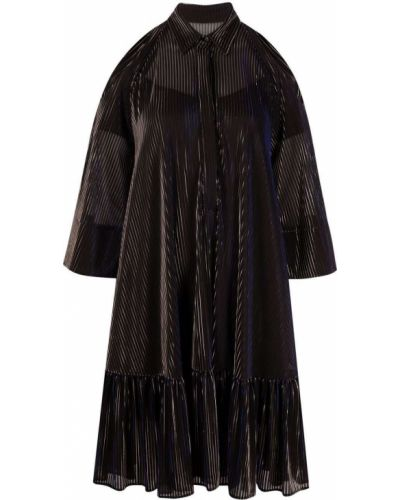 Шелковое платье макси - черное Talbot Runhof
