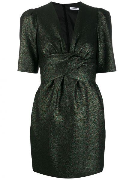 Платье мини с V-образным вырезом прямое P.a.r.o.s.h.