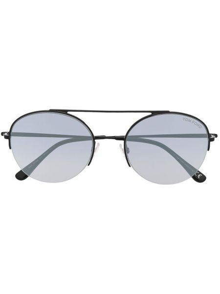 Złote oprawka do okularów - czarne Tom Ford Eyewear