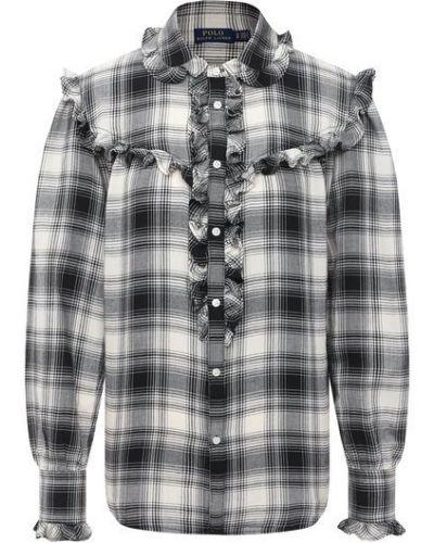 Белая рубашка из вискозы Polo Ralph Lauren
