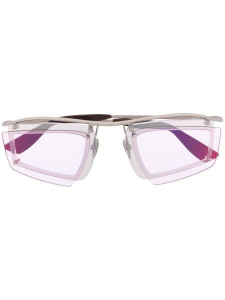 Okulary srebrne - różowe Acne Studios