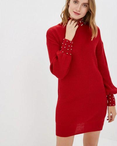 Платье вязаное красный Zuiki