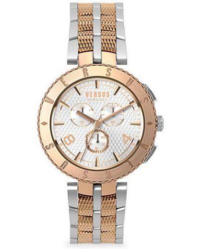Biały zegarek kwarcowy srebrny kwarc Versus Versace