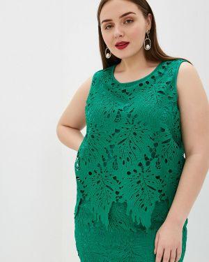 Блузка без рукавов зеленый весенний Samoon By Gerry Weber