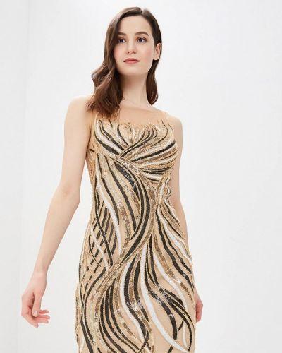 Вечернее платье золотой Jan Steen