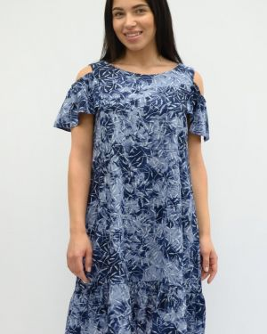 Летнее платье миди из штапеля Sharlize