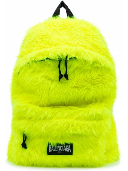 Żółty plecak Balenciaga