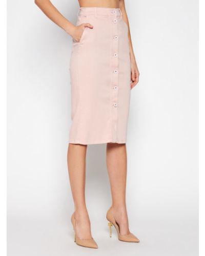 Spódnica jeansowa - różowa Marella