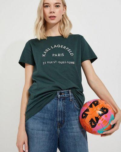 Зеленая футболка Karl Lagerfeld