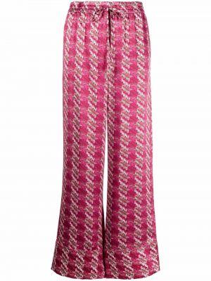 Шелковые брюки - розовые Lautre Chose
