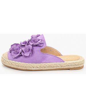 Сабо замшевые фиолетовый Malien