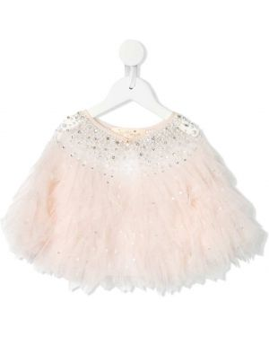 Różowa narzutka srebrna perły Tutu Du Monde