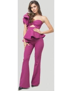 Облегающий фиолетовый брючный костюм Lipinskaya Brand